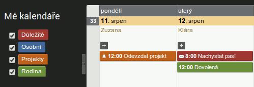 Kalendáře v PREMIUM verzi
